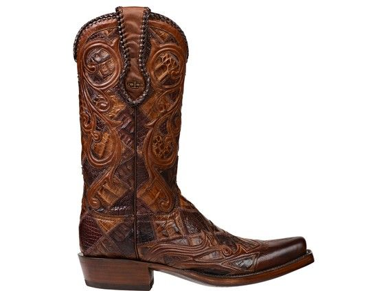a7c13726c90 Lucchese Men's Cowboy Boots | Gibson | Belly Caiman Crocodile in ...