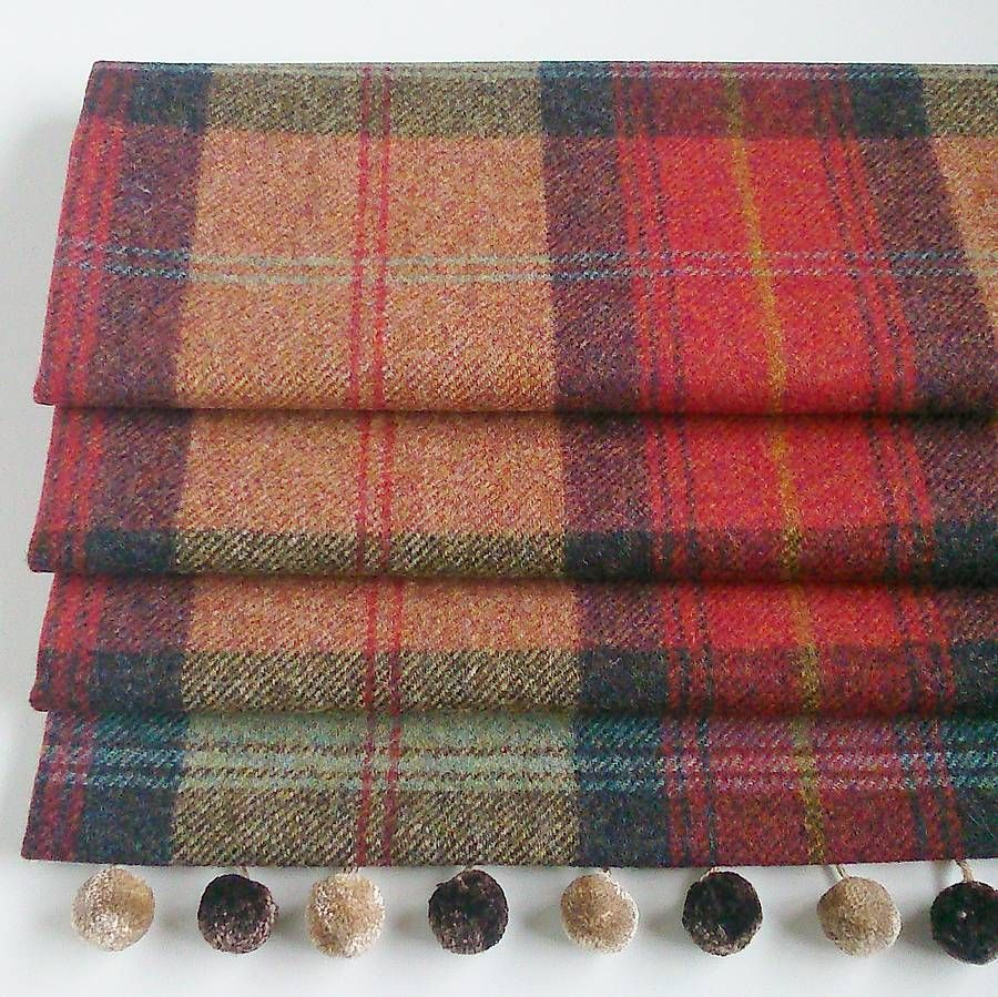 Red Roller Blinds Kitchen Red Tweed Roman Blind Jumpers Indigo And Runners