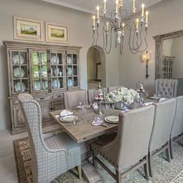 Spanish Colonial Revival Style House Phoenix Home Garden Dining Room Design