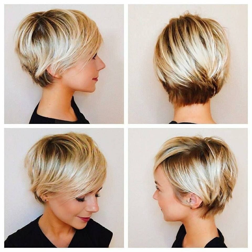 32 Trendy Hairstyles And Haircuts For Round Face | Pixie | Pinterest ...