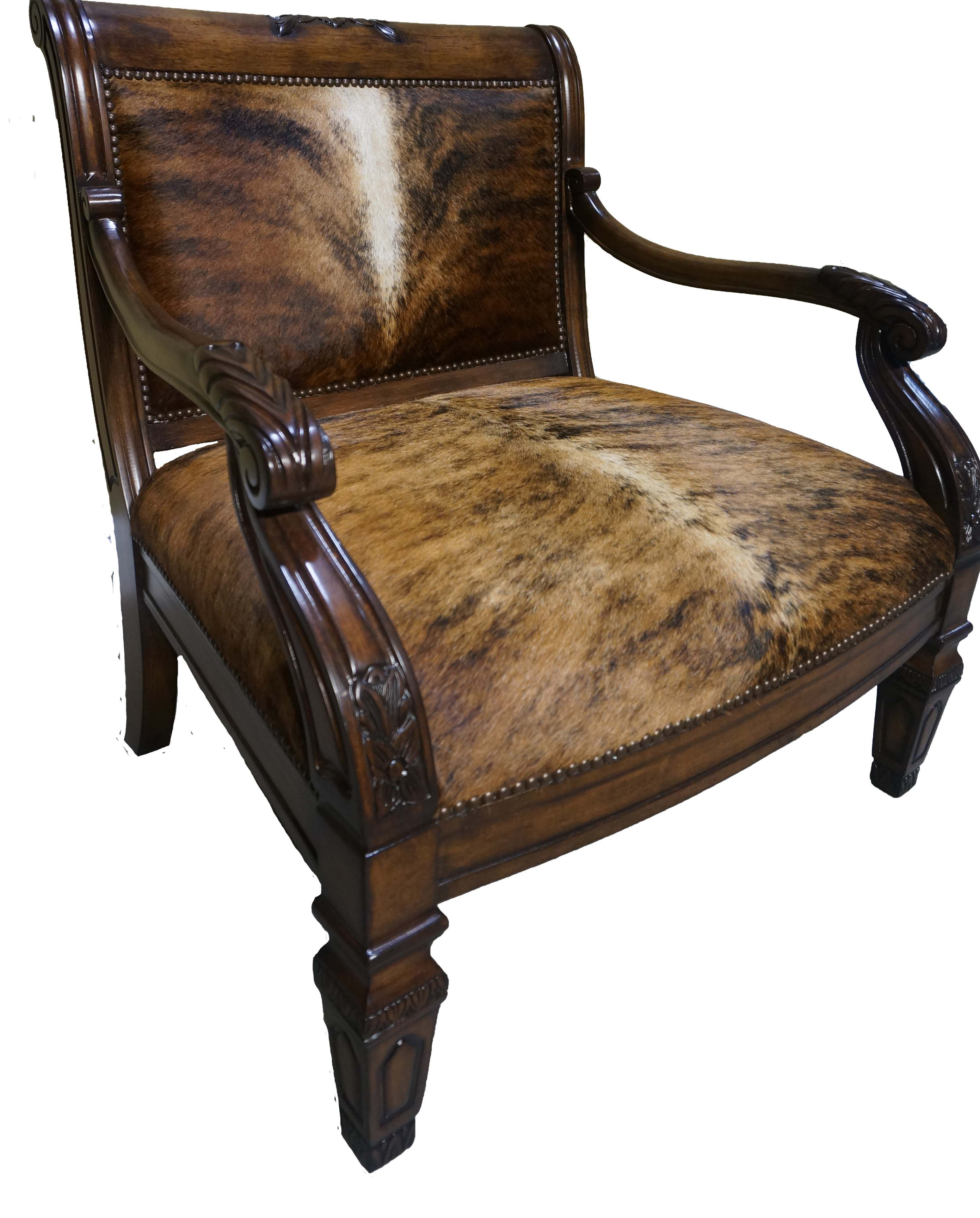 Western Chairs Brazilian Cowhide Accent Chair Colorado Home Accent Chairs