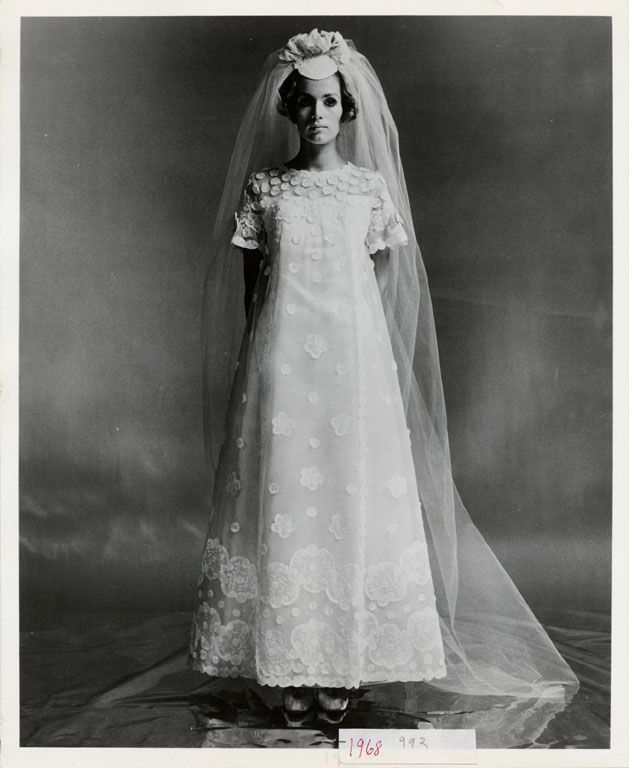 Wedding Dresses Boston: Priscilla Of Boston Wedding Dress, 1968. Silver Gelatin On