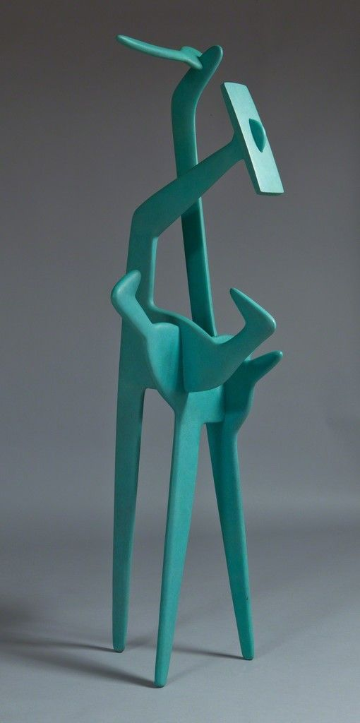 ISAMU NOGUCHI Strange Bird, 1945 Bronze with green patina 56 1/2 × 21 1/2 × 19 1/2 in 143.5 × 54.6 × 49.5 cm