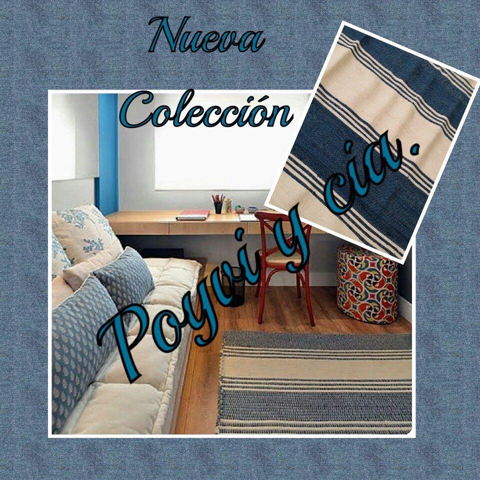 De la nueva coleccion de Poyvi y cia. Alfombra en crema y azul ...