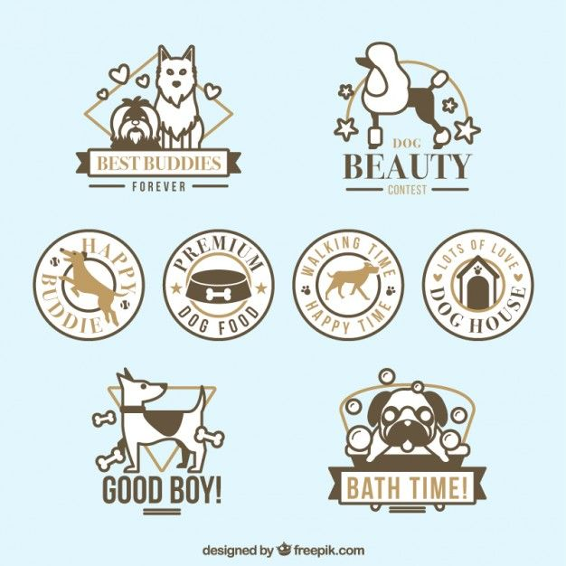 Download Dog Badges For Free Dogs Pet Boutique Dog Vector