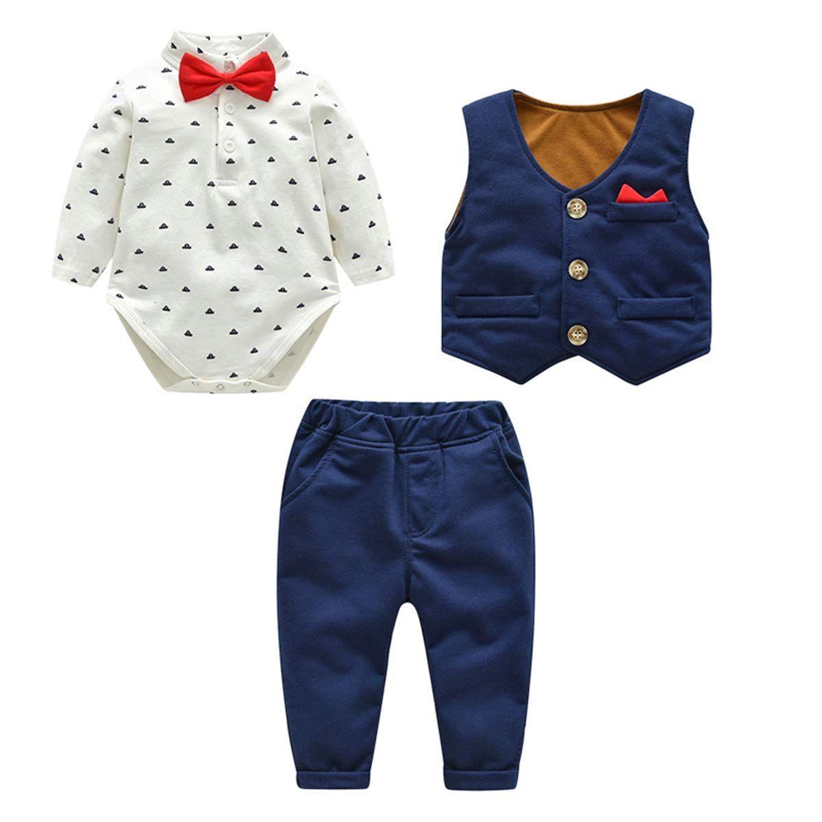 Kanodan Baby Junge Smokings Kinder Anzug Hochzeit Partei Taufe Bekleidungsset In 2020 Anzug Baby Junge Kinder Anzug Baby Anzug