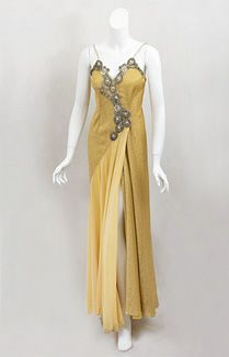 Stavropoulos beaded evening dress, 1980s.
