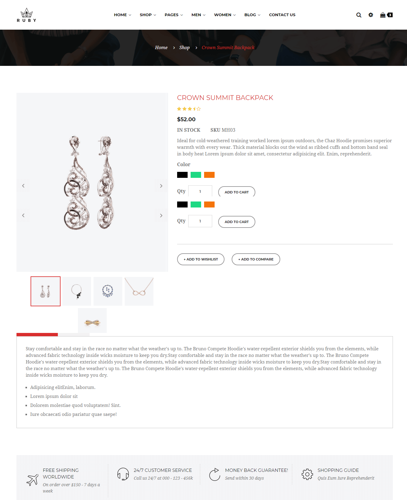 Ruby Jewelry Ecommerce Bootstrap 4 Template Is An Elite Design Which Basically To