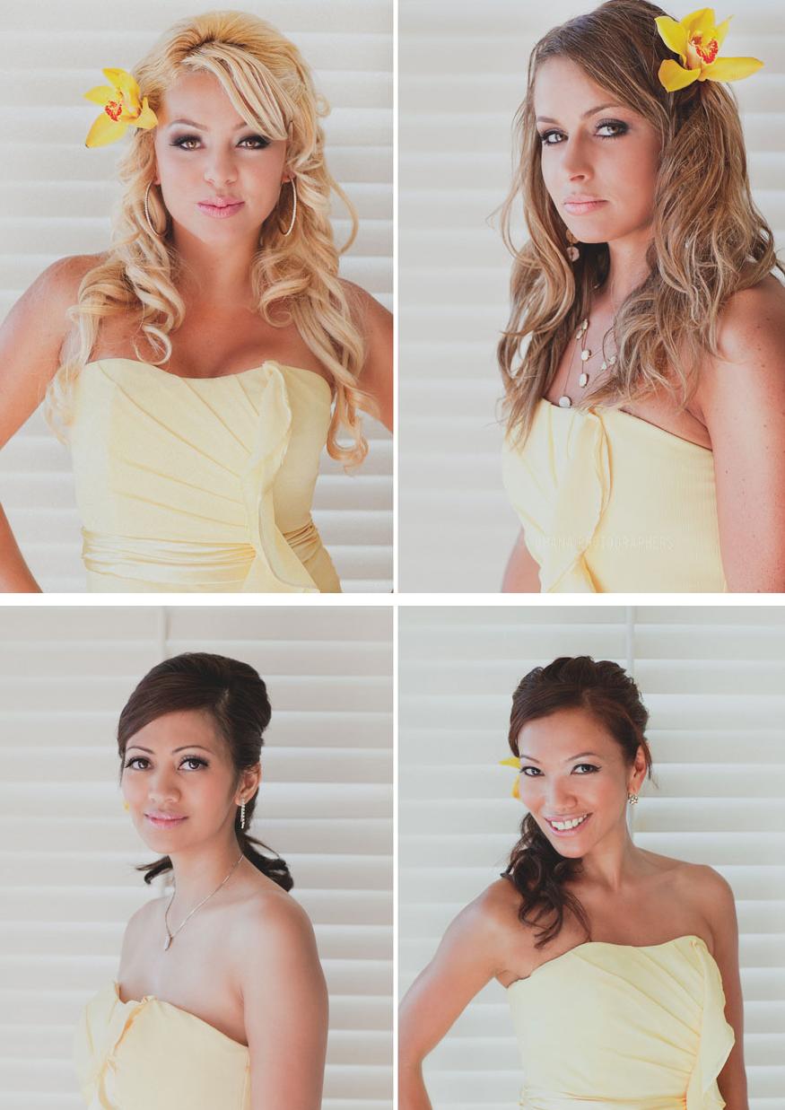 bridesmaid hairstyles // surf and sand resort wedding // ohana ...