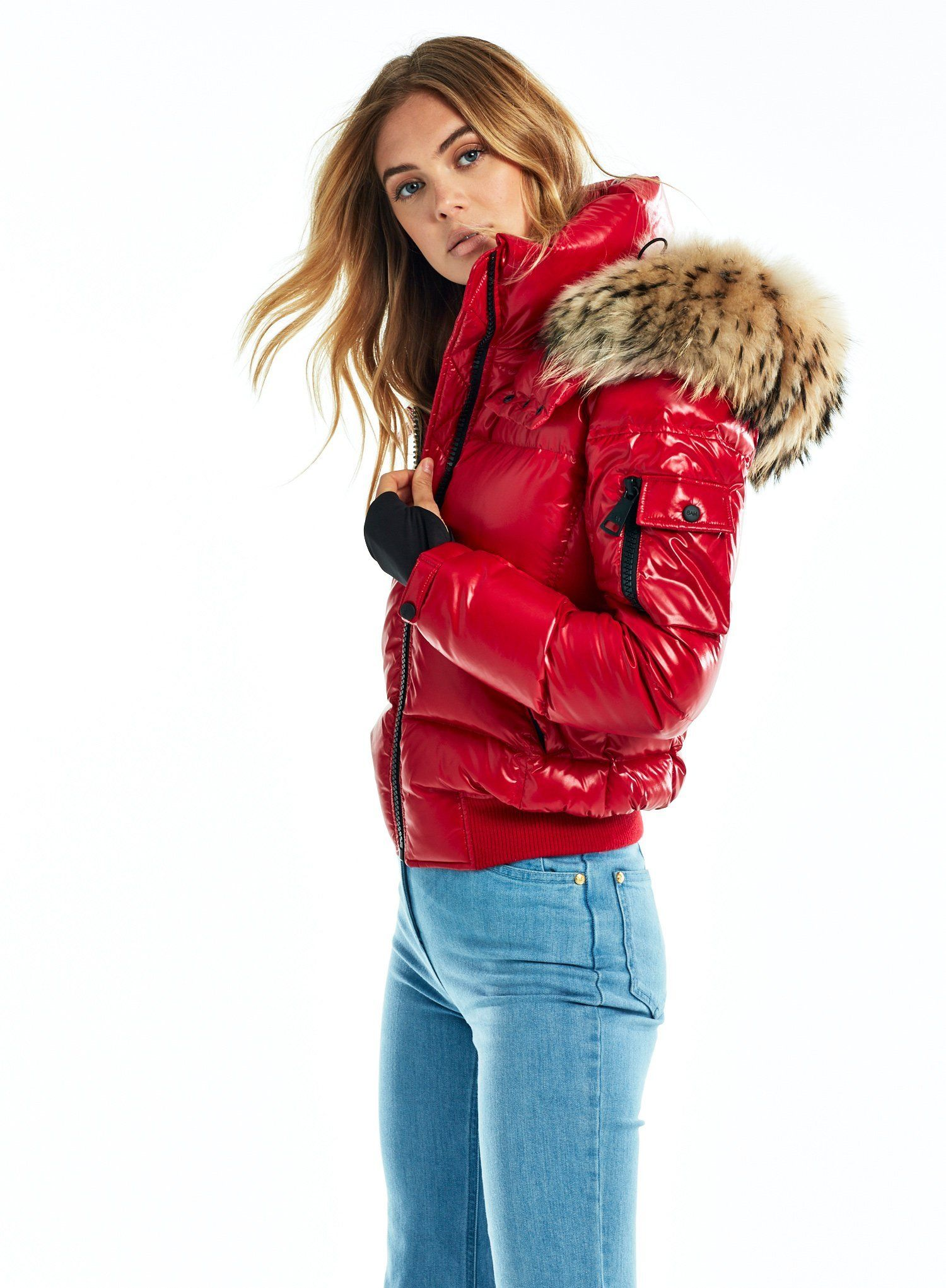 Sam New York Womens Dylan Jacket Jackets For Women Fur Hood Jacket Quilted Bomber Jacket [ 2041 x 1500 Pixel ]