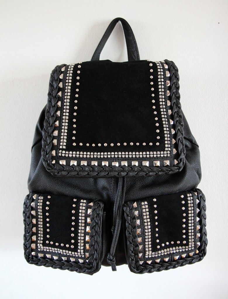 Studded rucksack. I'd totally use this as my baby/ toddler bag