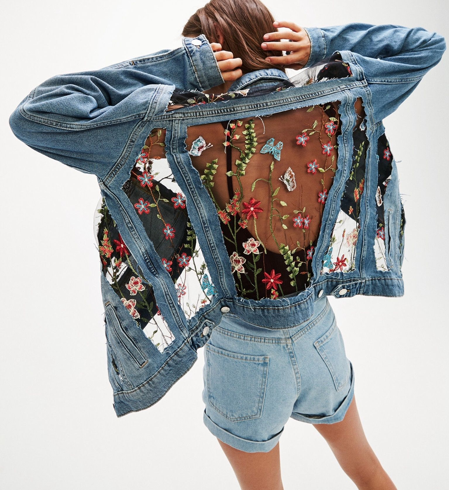 Célèbre Épinglé par Wilma sur Denim | Pinterest | Vêtements, Customisation  AK59
