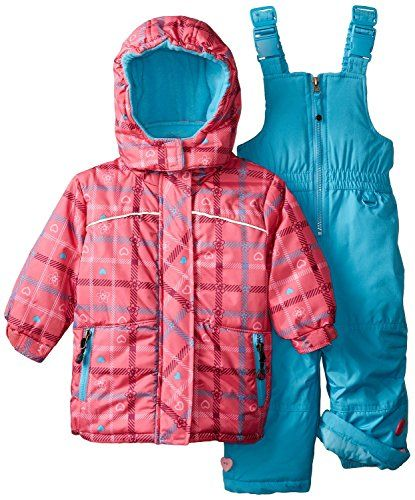 fdf5edab0 Rugged Bear Baby Girls Plaid Heart Snowsuit Pink 24 Months ...