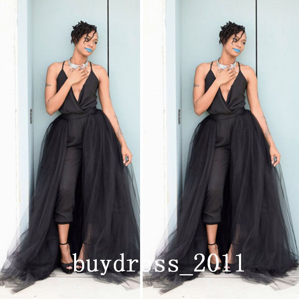 Black long tull tutu overskirts wedding party detachable bridesmaid