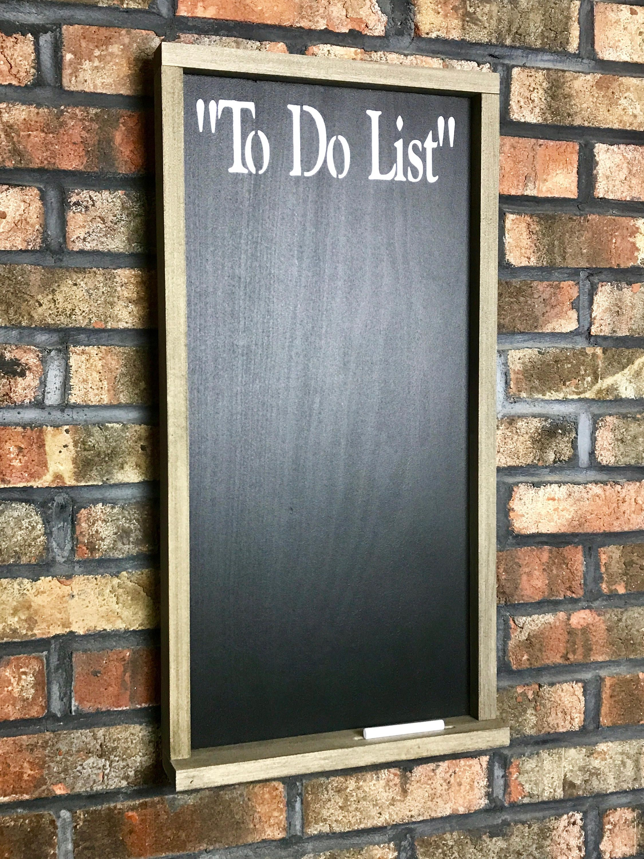 To Do List Chalkboard With Chalk Tray/Chalkboard/Framed Chalkboard ...