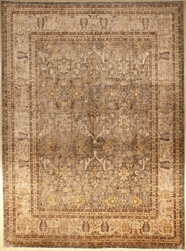 Hand Knotted Agra Style Indian Rug 10 X 13 6 Antique Revival Luxury Rug Agra Rug