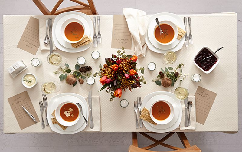 Thanksgiving Table Setting Ideas - For a small table keep the décor simple and sleek so it doesnu0027t appear cluttered. & Gen X vs. Millennials: Thanksgiving Table | Thanksgiving table ...