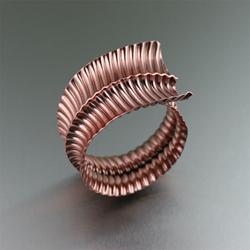 Fold Formed Copper Bangle Bracelet by San Francisco jewelry designer