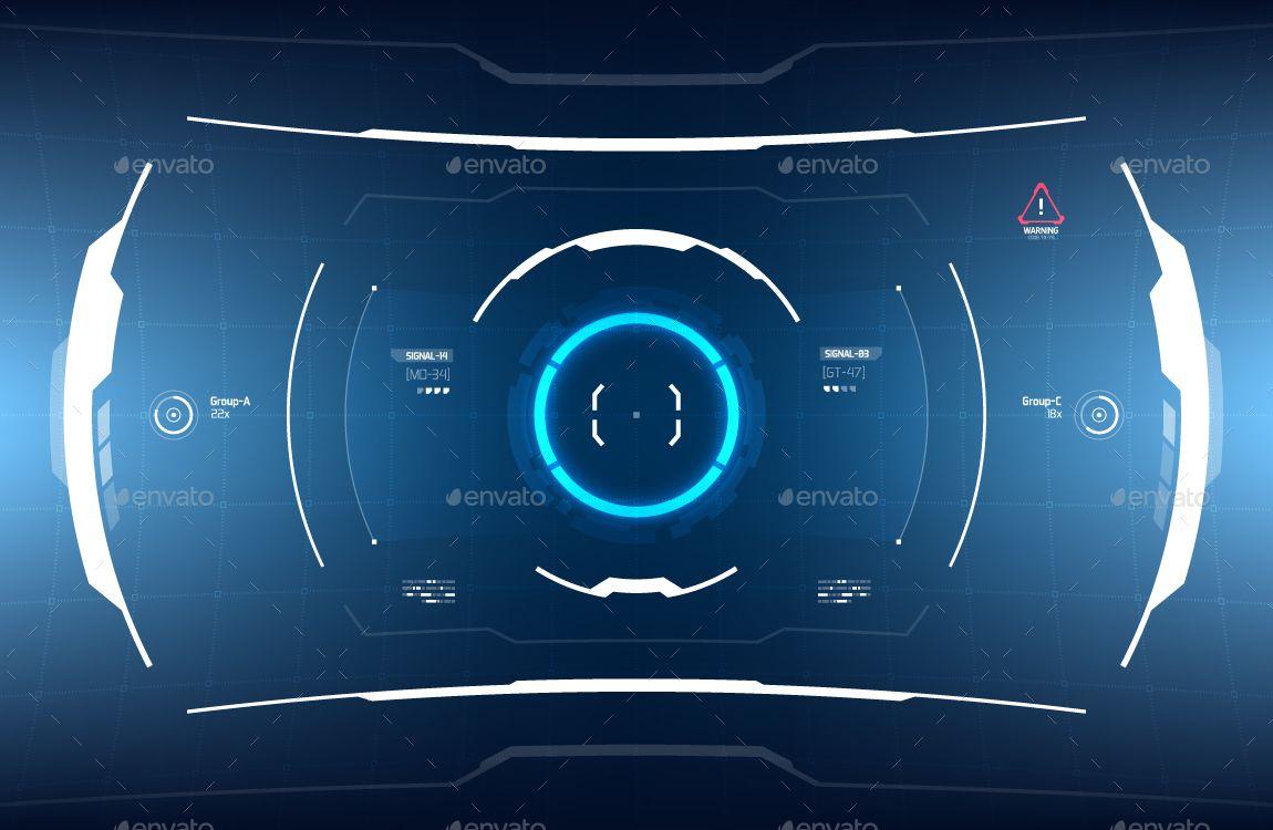 Conceptual 10 Futuristic Hi-Tech HUD Set #Futuristic
