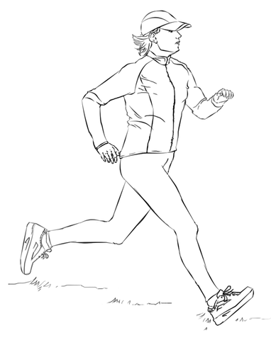 Running Woman Coloring Page Free Printable Coloring Pages Drawing Tutorial Free Printable Coloring Pages Coloring Pages