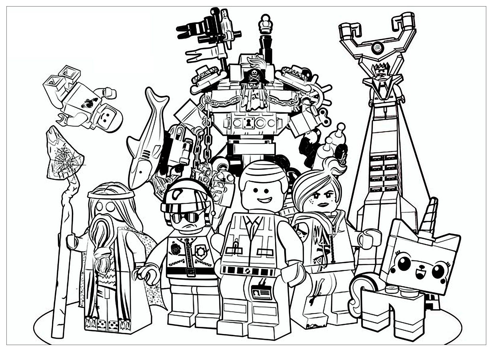 Lego Movie Coloring Page From The Gallery Movie Posters Lego Movie Coloring Pages Lego Coloring Pages Avengers Coloring Pages