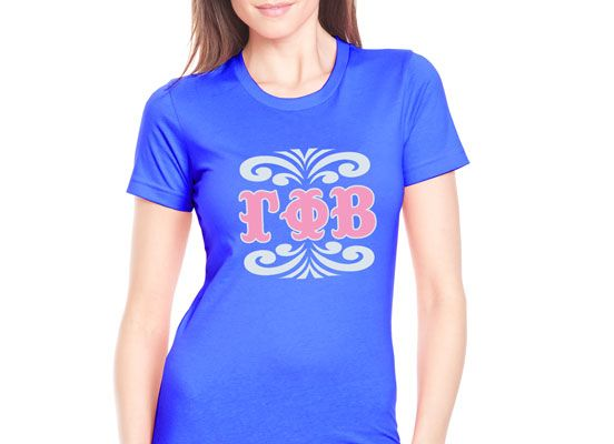 "Screen Printed Sorority Shirt Design ""Monogram"" #Greek #Sorority #Clothing #Recruitment #Rush"