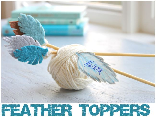helana and ali: Feather Toppers - From Felt