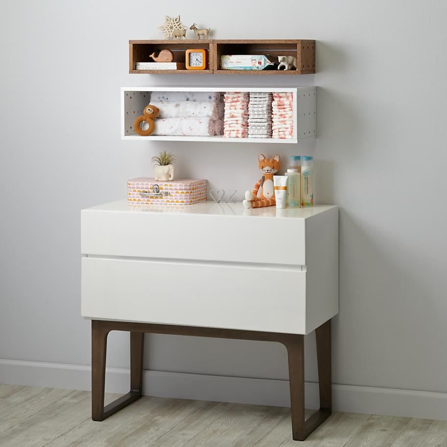 Minimalist baby world the less is more nursery wall shelving minimalist baby world the less is more nursery modular shelvingwall amipublicfo Images