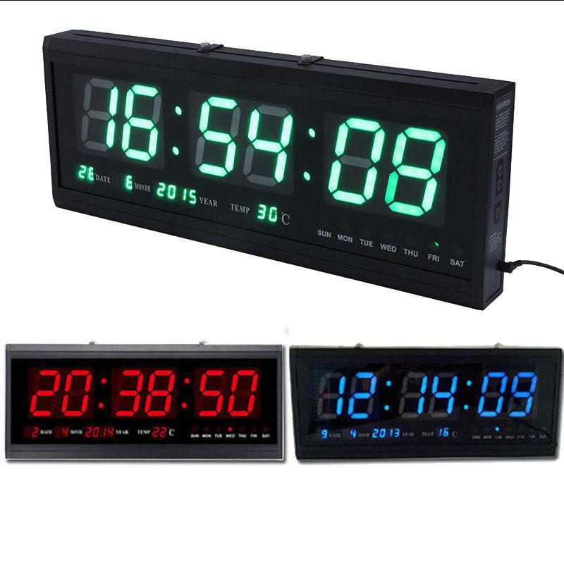 Details about Large Big Modern Digital LED Wall Clock 24