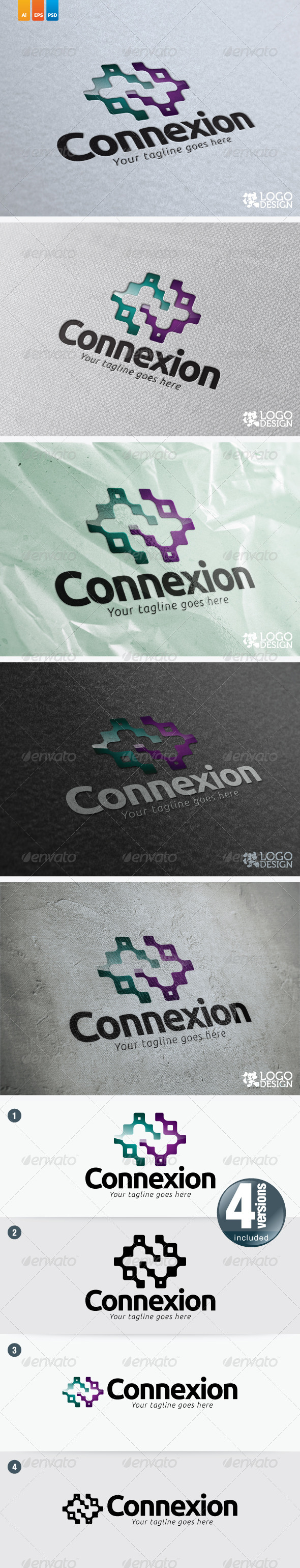 Connexion GraphicRiver This logo perfectly used for