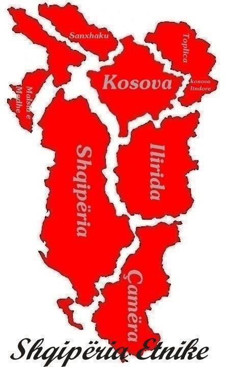 Albanian People Map Living Harta E Popullit Shqiptar Kto Jan