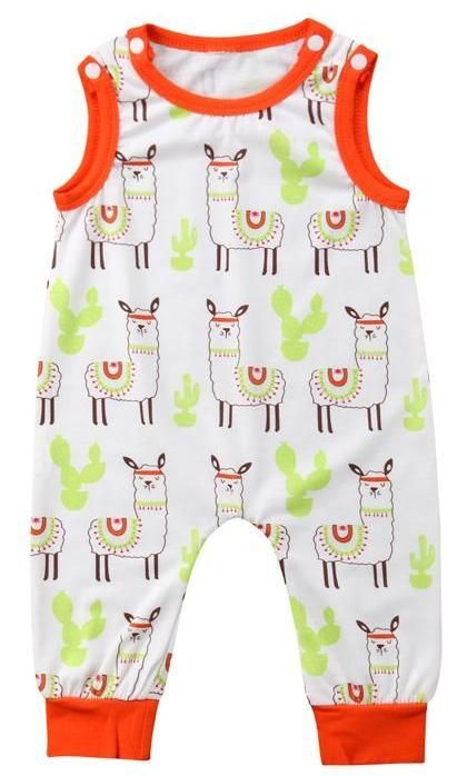 b5173861ca15 Llama Unisex Baby Romper