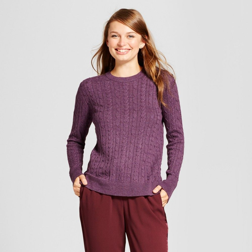 54c4422194773 Women s Cable Any Day Pullover - A New Day Violet (Purple) Xxl ...