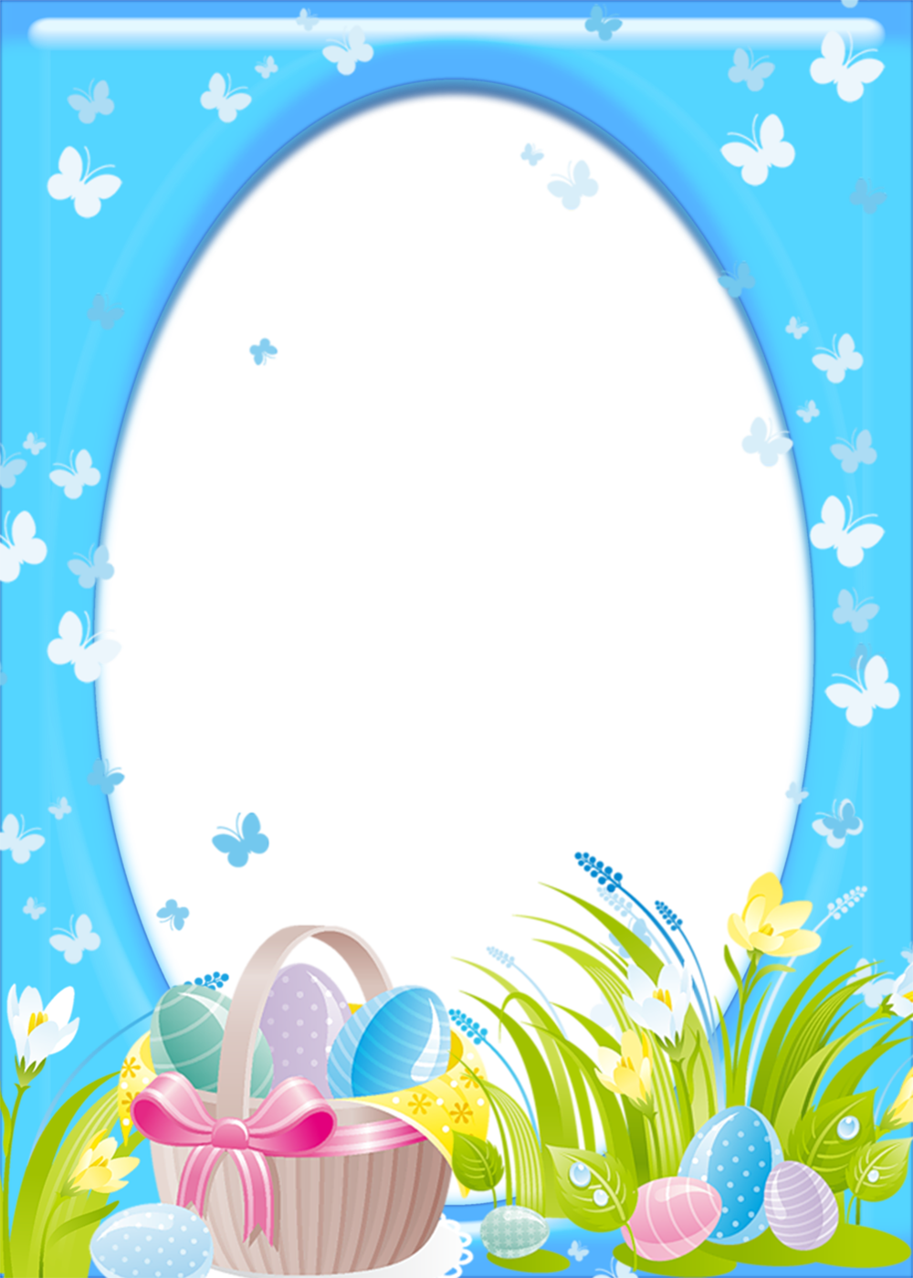 Easter Transparent Png Frame Gallery Yopriceville High Quality Images And Transparent Png Free C Easter Picture Frames Easter Photo Frames Easter Pictures