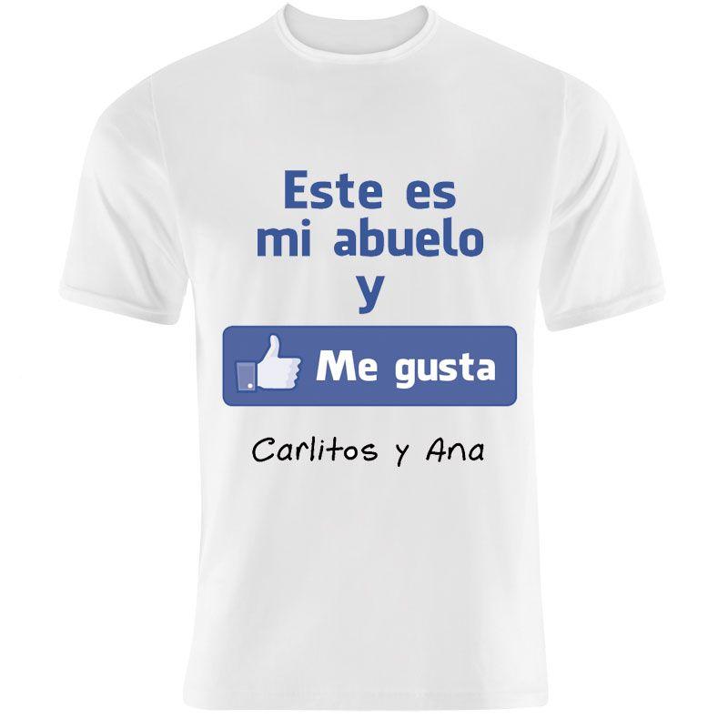 Camiseta Me Gusta Mi Abuelo Personalizada Regalo Para