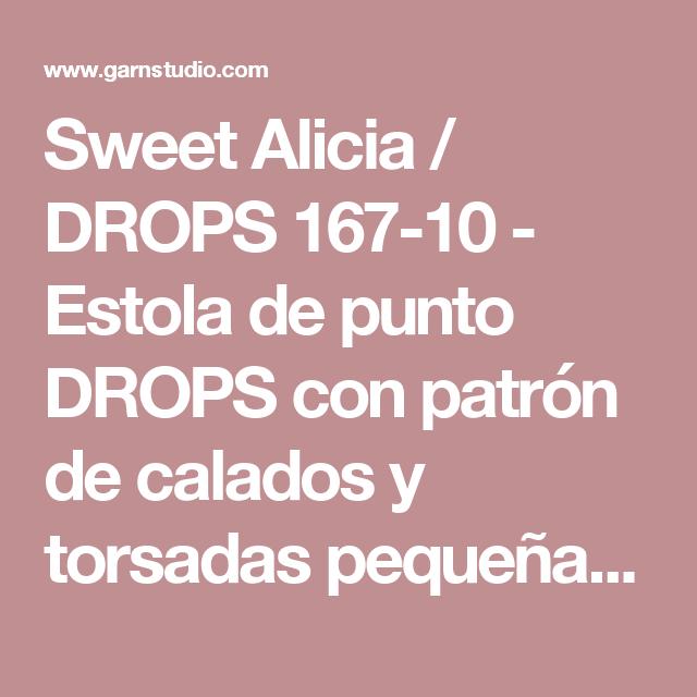 Sweet Alicia / DROPS 167-10 - Estola de punto DROPS con patrón de ...