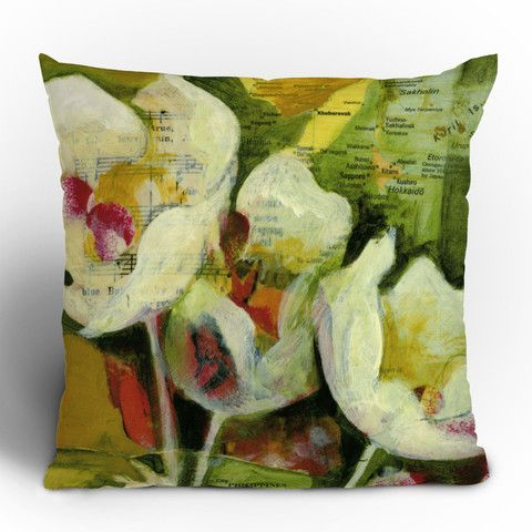 DENY Designs Land of Lulu Hidden Fortunes Throw Pillow 16-Inch by 16-Inch