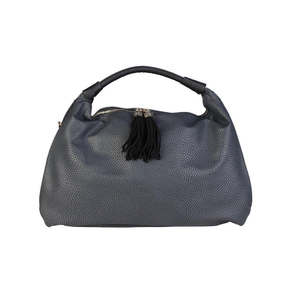 b4cbc618ab6b Blu Byblos Black Synthetic Leather Shopping Bag