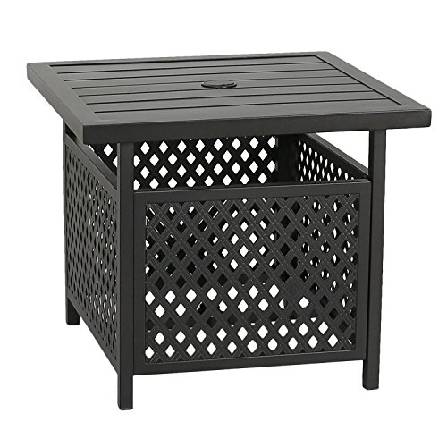Patio Tree Outdoor Umbrella Side Table Stand Patio Bistro Table With Umbrella Hole Outdoor Umbrella Patio Trees Umbrella Stand