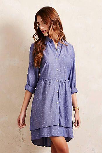 Speckled Tier Shirt Dress