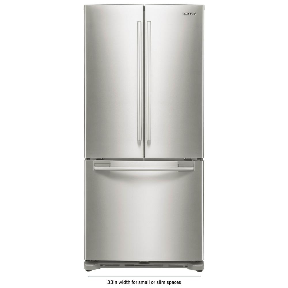 Samsung 33 In W 17 5 Cu Ft French Door Refrigerator In White Counter Depth Rf18hfenbww 2 The Home Depot Counter Depth French Door Refrigerator Counter Depth Refrigerator French Door Refrigerator