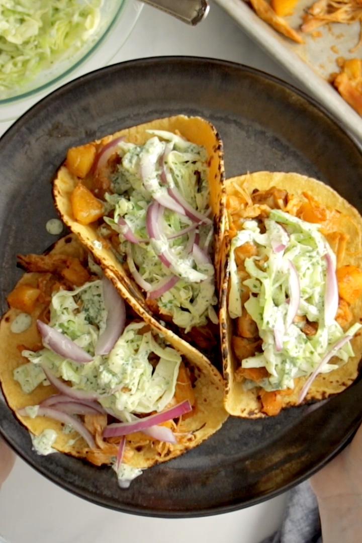 Instant Pot Hawaiian Chicken Tacos