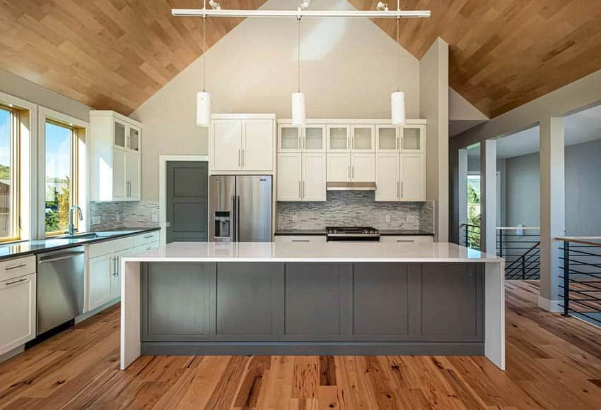 Wood Kitchen Ceiling (Design Ideas) in 2020 | Kitchen ...