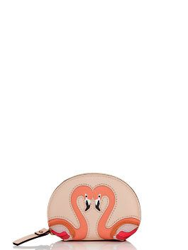 strut your stuff flamingo coin purse by kate spade new york