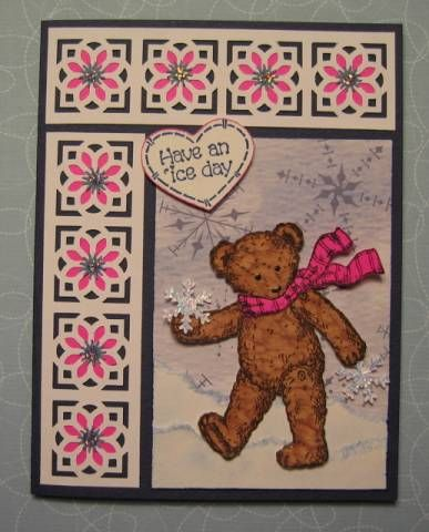 5 x Brown Bear BEST WISHES sentiment TEDDY BEARS for Paper Crafts /& Cards