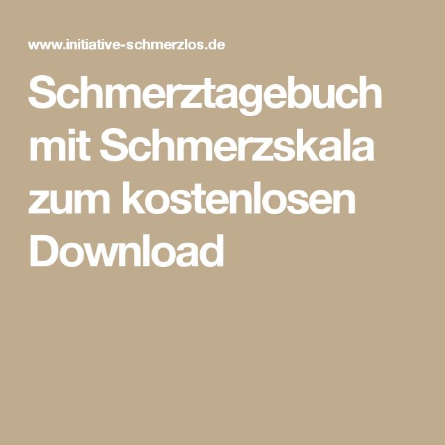 Schmerztagebuch Mit Schmerzskala Zum Kostenlosen Download Bullet