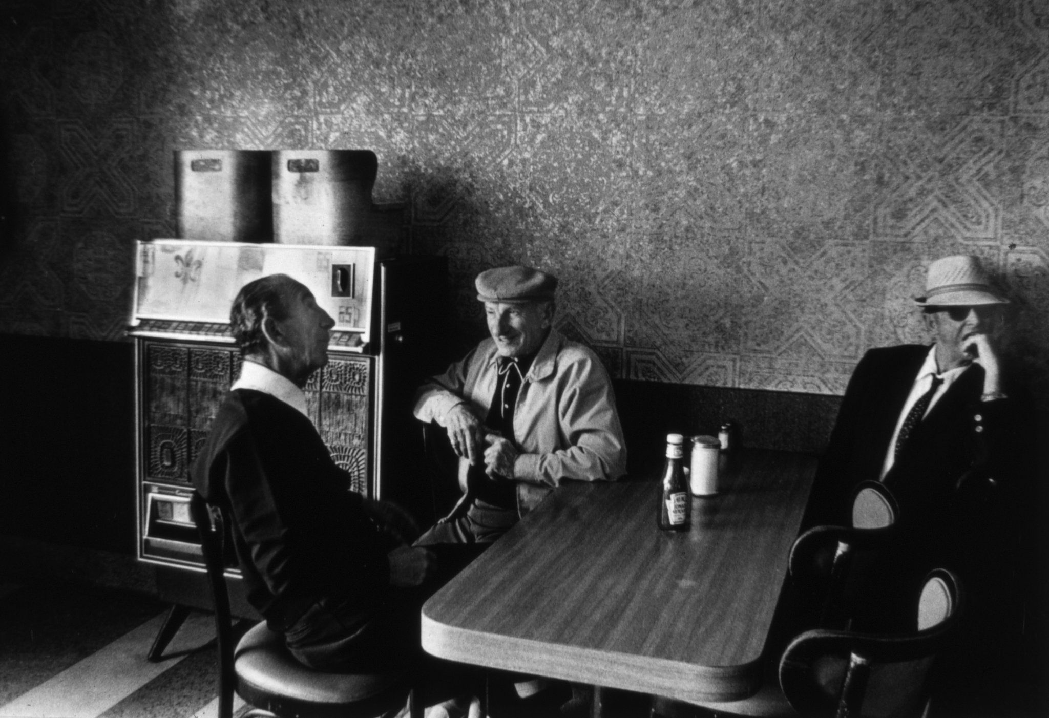 Marcia Bricker Halperin's photos of New York's long-gone cafeterias show their graceful architecture, moody lighting and the characters who frequented them.