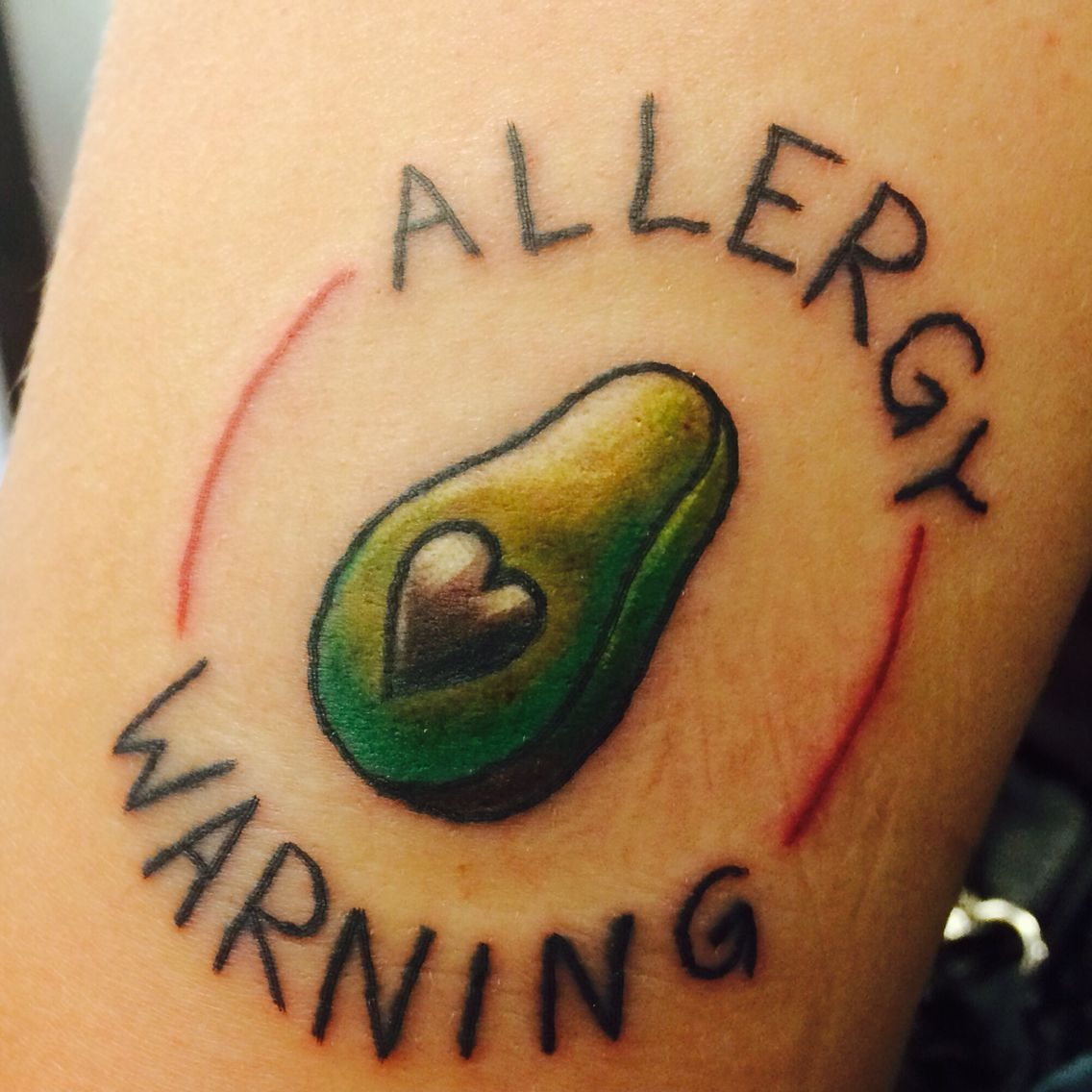 Allergy tattoo by SVH tattoo at atomic tattoos Allergies