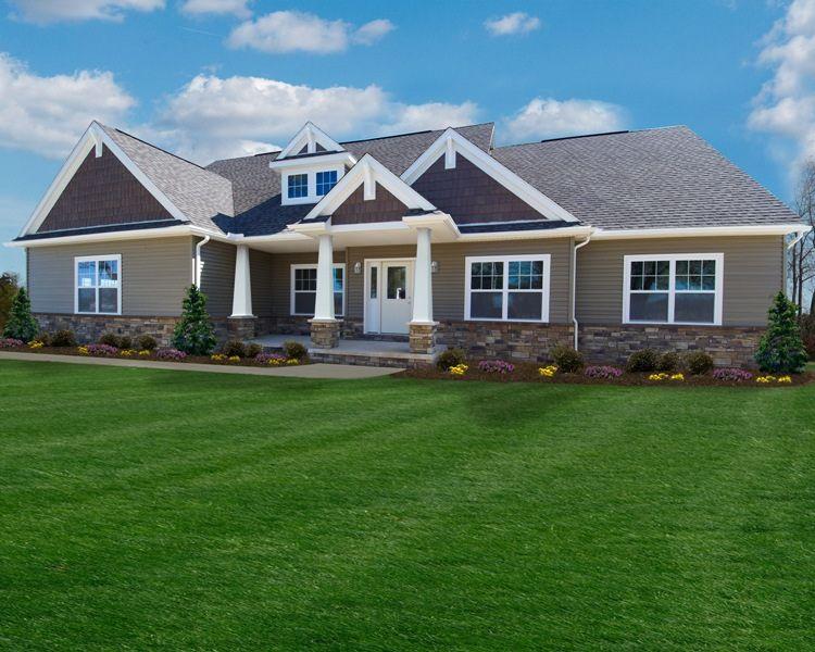 montgomery craftsman by wayne homes - Craftsman Ranch Home Exterior