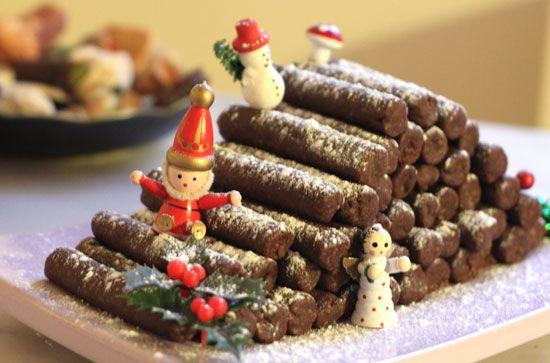Le Tas De Buches De Noel Sibo Sibon Pate D Amande Noel